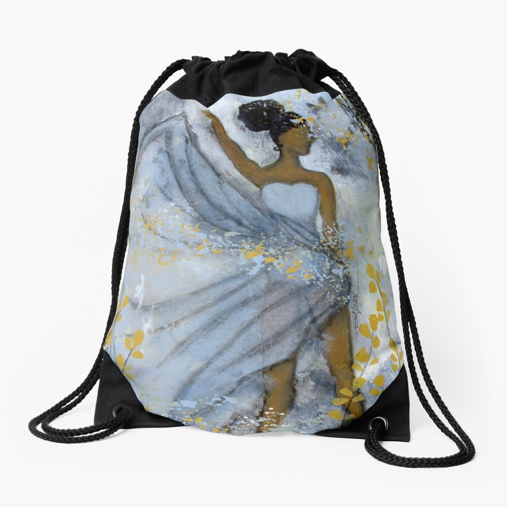 Grit and Grace Drawstring Bag Front
