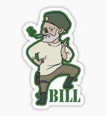 """mini William """"Bill"""" Overback Sticker"""