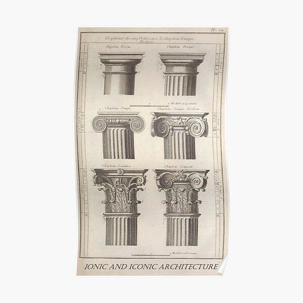 Architecture ionique et iconique Poster