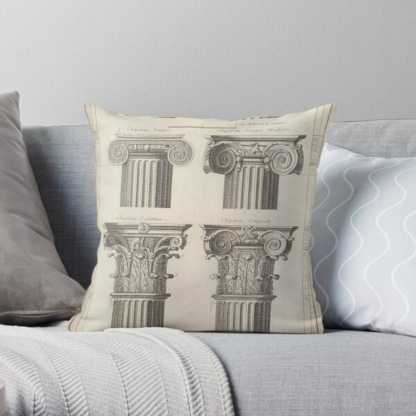 Ionic and Iconic Architecture Throw Pillow