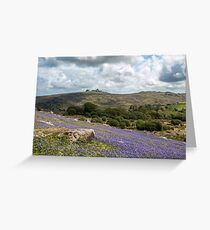 Holwell Bluebell Lawns Dartmoor Greeting Card