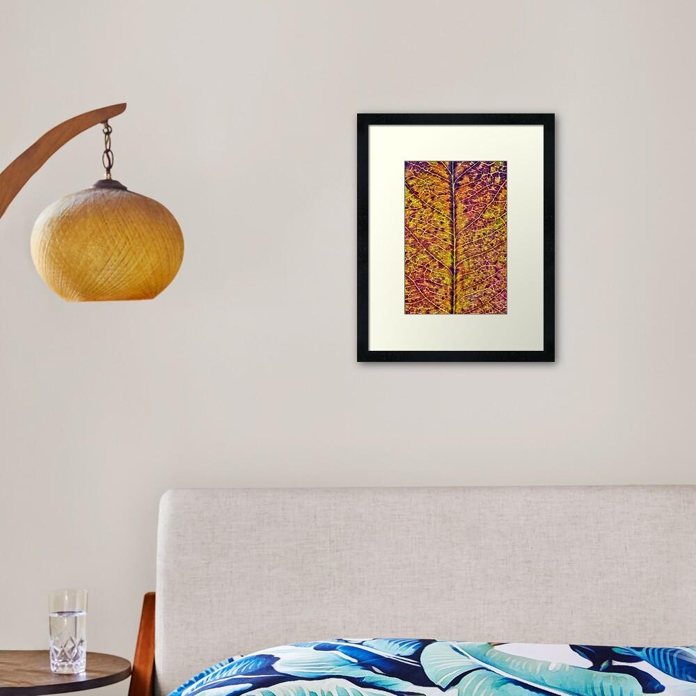 Leaf Sturcture Framed Art Print