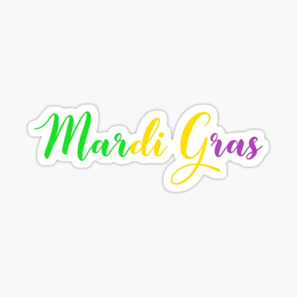 Mardi Gras Shirt Women - Mardi Gras Shirts - Fat Tuesday Shirt - Mardi Gras Beads - Mardi Gras Shirts For Woman Sticker