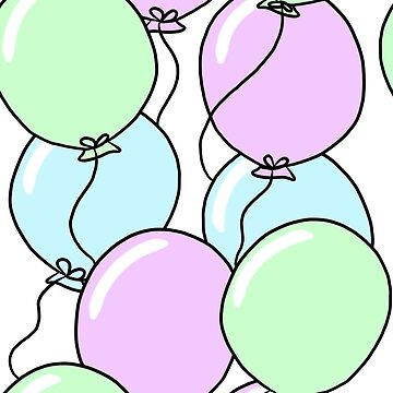 Birthday Party Balloons | Mint, Purple, Blue by cozyreverie
