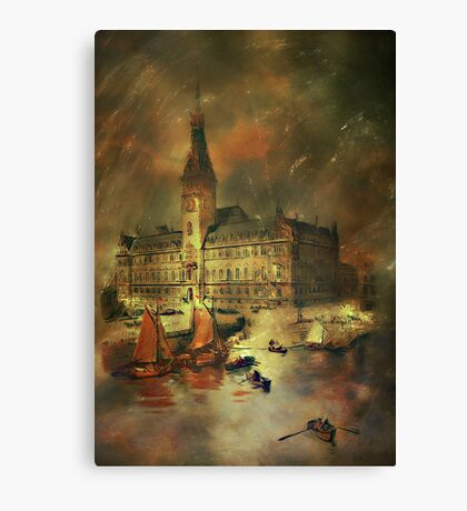 Old postcard Canvas Print