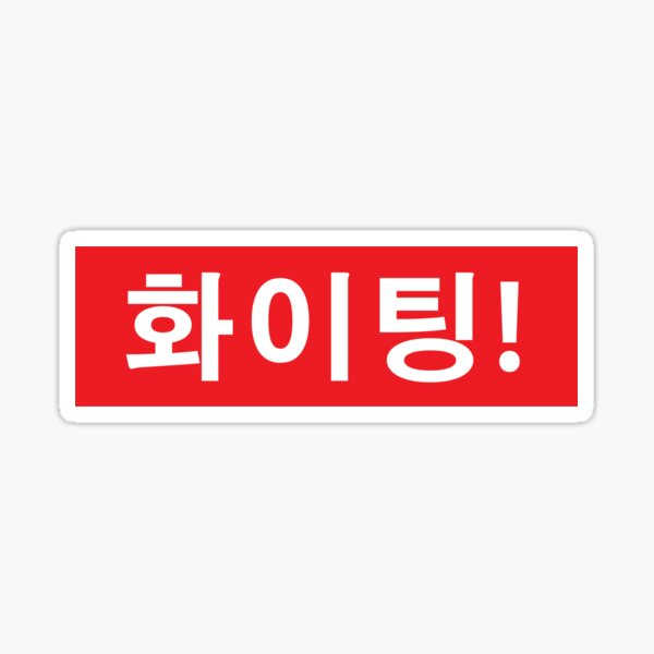 FIGHTING 화이팅 Sticker