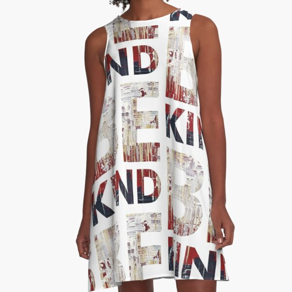 BE KIND paint version A-Line Dress
