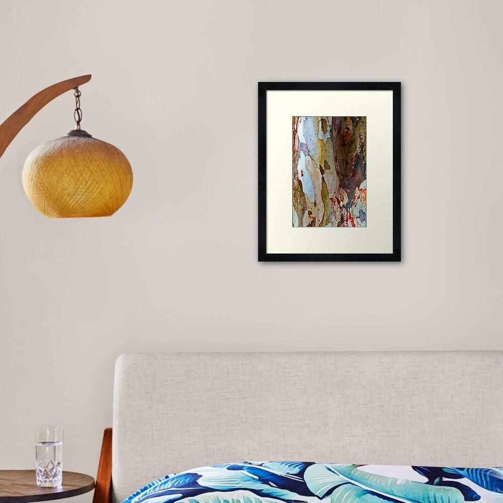 Leopard tree bark Framed Art Print