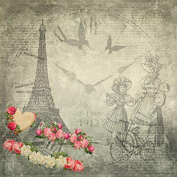Weinlese Paris von DavJen