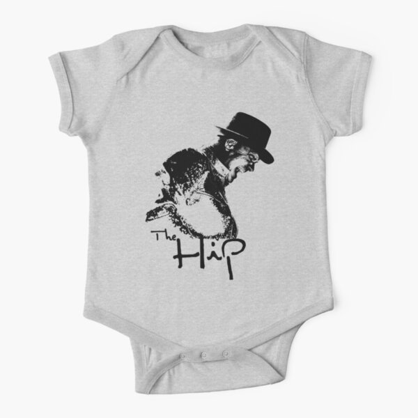 The Hip - Black Stencil Short Sleeve Baby One-Piece