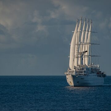 The Windstar Ship Club Med 1 off the Coast of St. Lucia by gerdagrice