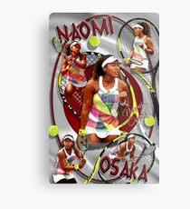 """Naomi Osaka """"Das Eine"""" Poster Metallbild"""