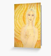 Angel of the Golden Ray Greeting Card