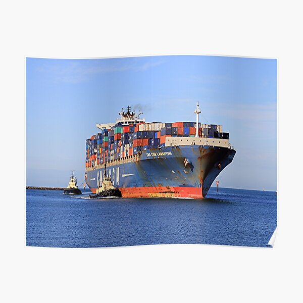 Lamartine container ship Poster