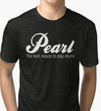 White Pearl  Drums Tri-blend T-Shirt