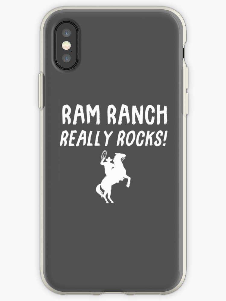 'Ram Ranch Really Rocks!' iPhone Case by FuzzCanyon