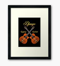 Django Gypsy Guitar Framed Print