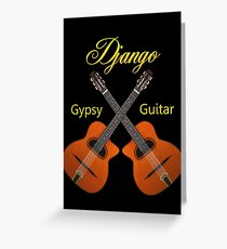Django Gypsy Guitar Greeting Card
