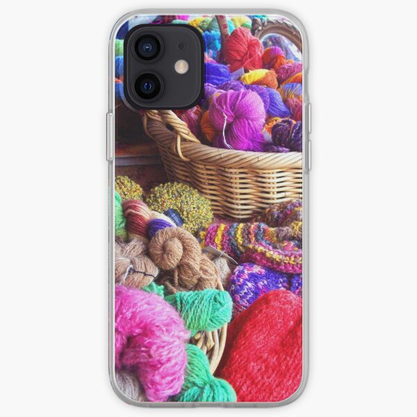 Coloured Wool Market iPhone Soft Case