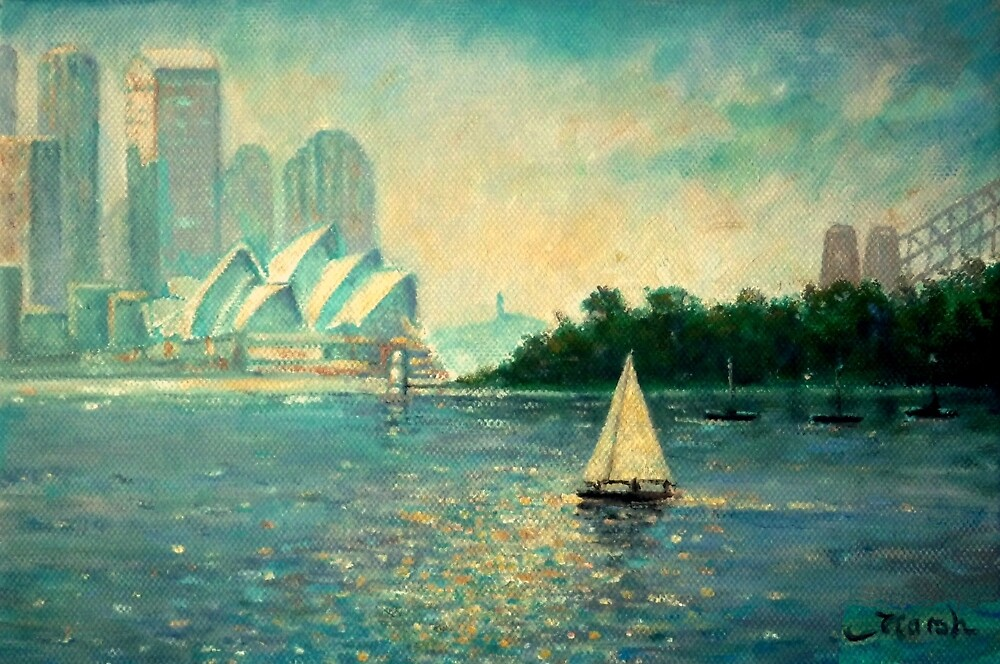 Into the Light Sydney no border by marshstudio