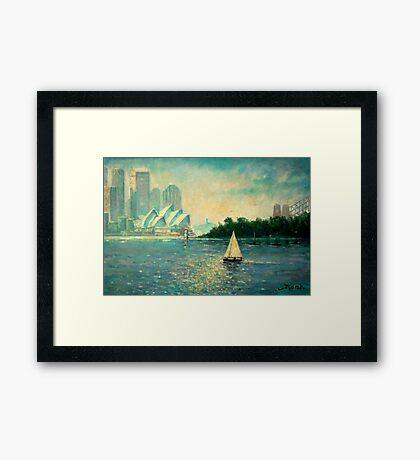 Into the Light Sydney no border Framed Print