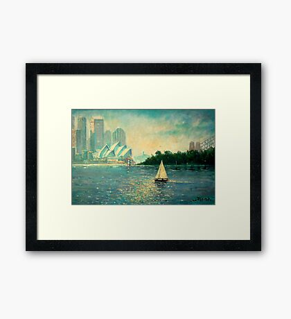 Into the Light Sydney no border Framed Print