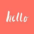 Hello x Coral Script by Leah Flores