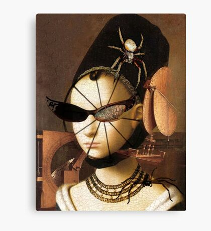 Lady Spinner Canvas Print