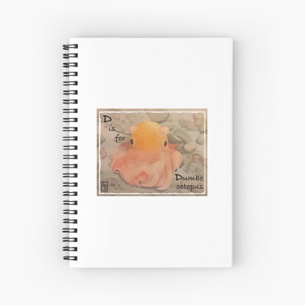 D is for Dumbo Octopus Spiral Notebook