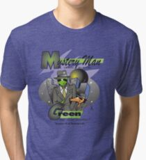 green on the scene Tri-blend T-Shirt
