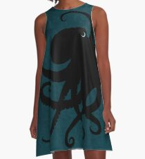 Octopus Silhouette, by Amber Marine © 2015 A-Line Dress