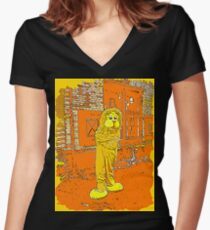 Lion 3 Women's Fitted V-Neck T-Shirt
