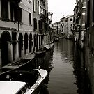 Venetian waterway by Richard Pitman