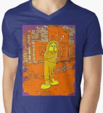Lion 7 Mens V-Neck T-Shirt