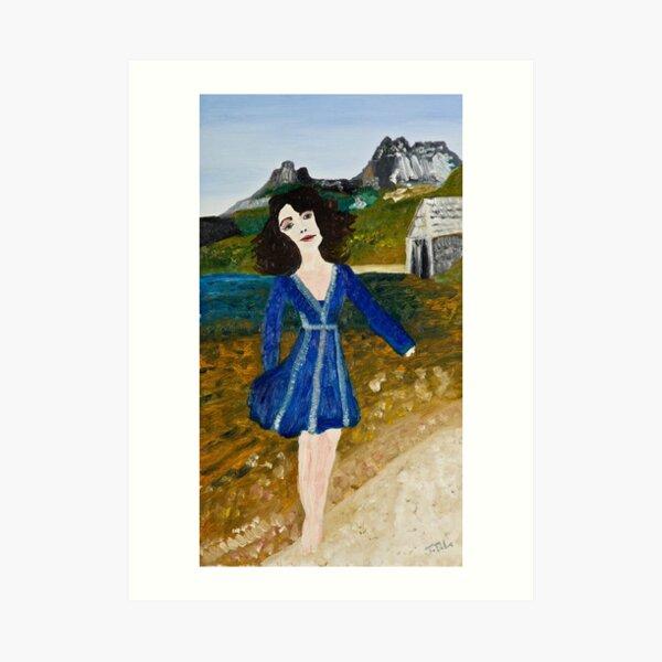 Woman at Dove Lake Art Print
