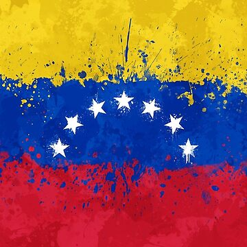 Venezuela Flag Action Painting - Messy Grunge by GrizzlyGaz