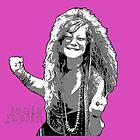 Janis Joplin - digitale Kunsthandwerk von Iona Art Digital von IonaArtDigital