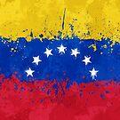 «Bandera de Venezuela Acción Pintura - Grunge Desordenado» de Garyck Arntzen