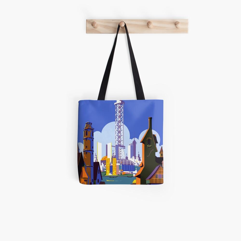 Weinlese-Reise-Plakat der Weltausstellung-Chicago 1934 Tote Bag