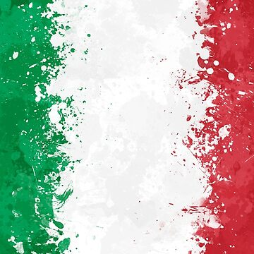 Italy Flag Action Painting - Messy Grunge by GrizzlyGaz