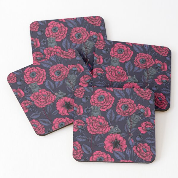 The mice party Coasters (Set of 4)