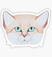 Sand Cat Glossy Sticker
