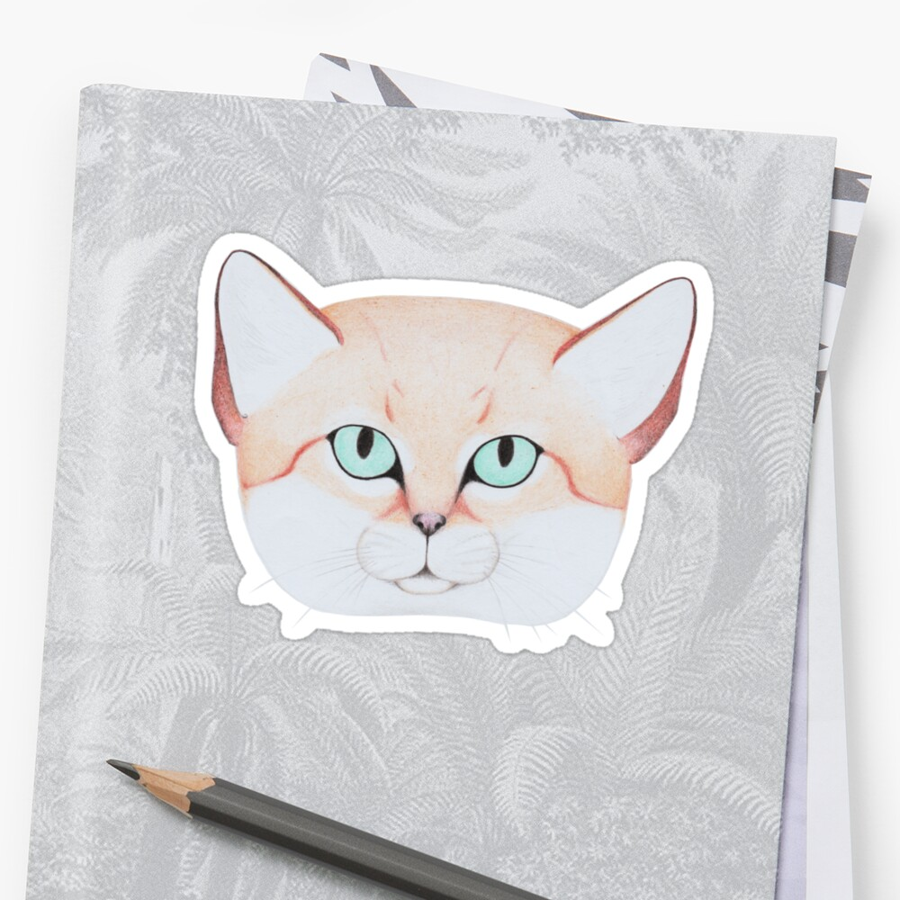 Sand Cat Stickers