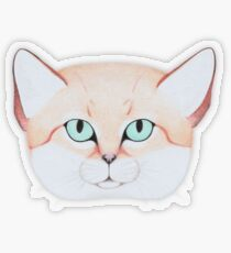 Sand Cat Transparent Sticker