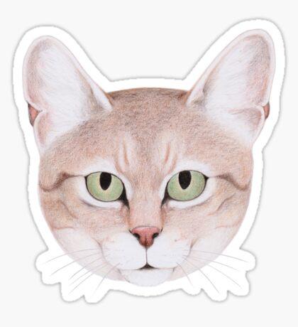 African Wildcat Sticker