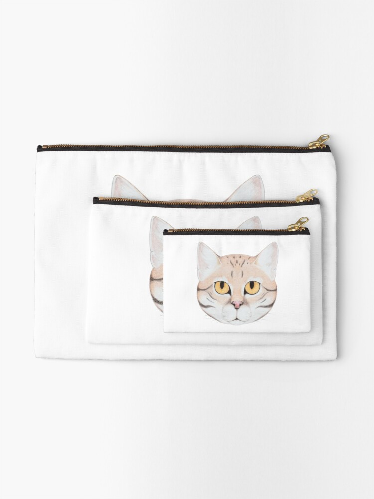 Alternate view of Black-footed Cat Zipper Pouch