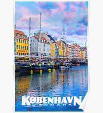 Vintage-Style Copenhagen Travel Poster (in Danish) Poster