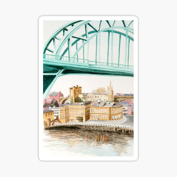 Tyne Bridge and Quayside Sticker
