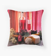 Wine In The Dinning Room Throw Pillow
