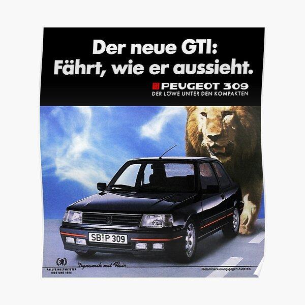 PEUGEOT 309 GTI Poster